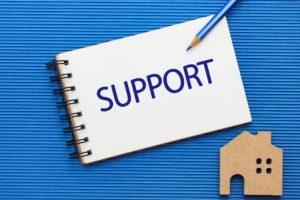 サポートの文字